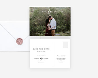 Photo save the date postcard template