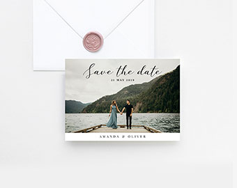 Photo save the date template